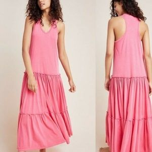 Sundry Anthropologie Tiered Sleeveless Maxi Dress